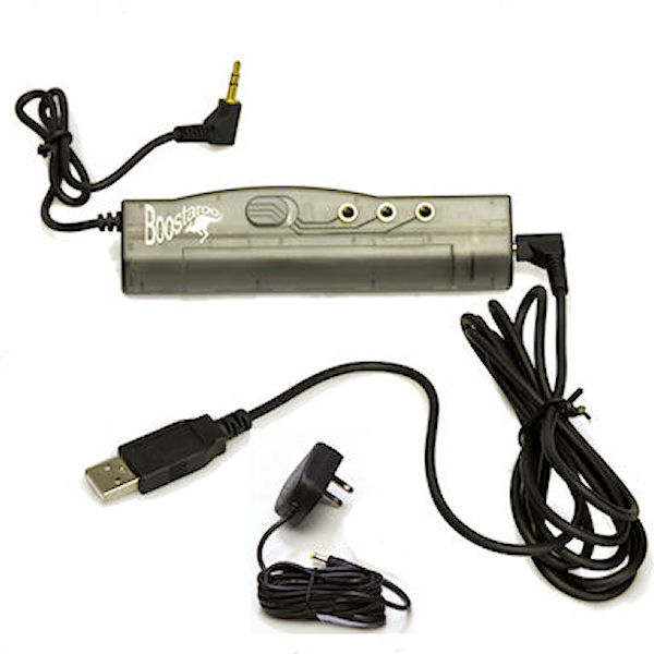 AC/Battery/USB Powered Boostaroo Audio Amplifier and Splitter
